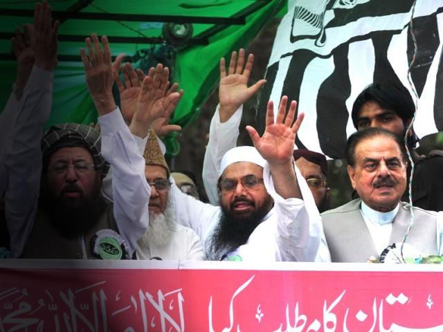 Mawlana Samiul Haq Syed Munawar Hasan Hafiz Muhammad Saeed and General Hamid Gul founding members of Terrorist Defence of Pakistan Council