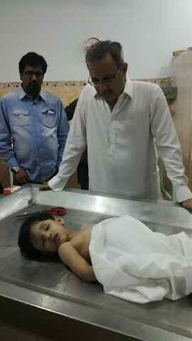 MQM MNA Haider Abbas Rizvi with his nephew Syed Hur Haider DOB 3 Sep 2009 Killed 3 Mar 2013.