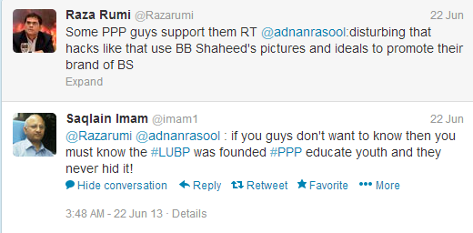 Imam to Rumi on ppp Lubp