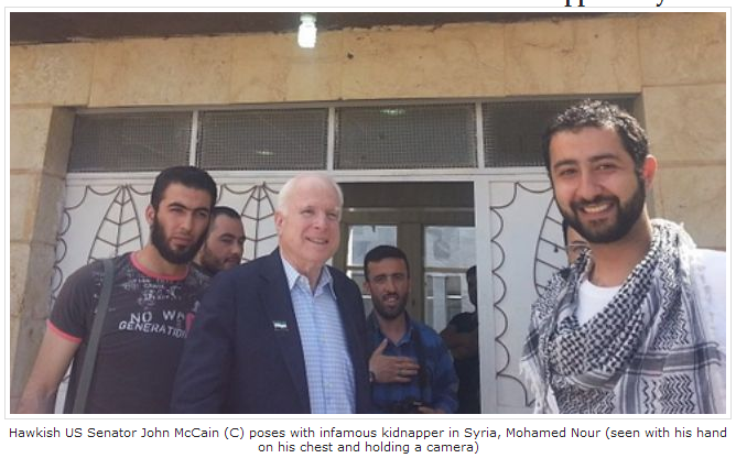 Image result for John McCain PHOTOS WITH AL NUSRA