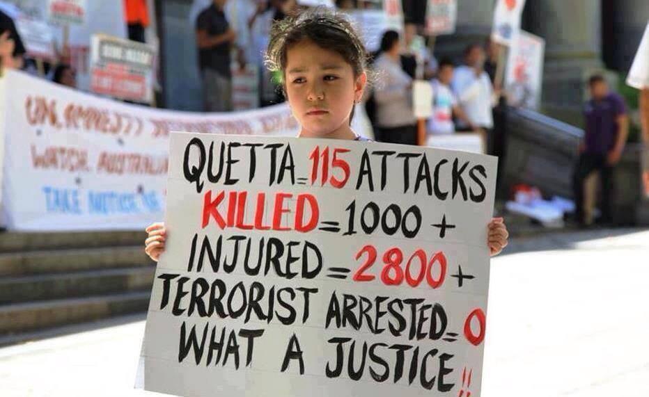 Hazara child protester