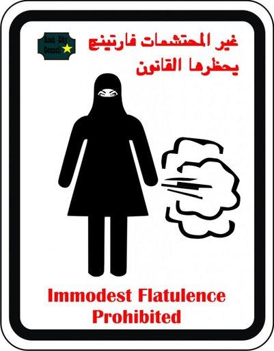 Islam-fart-banned