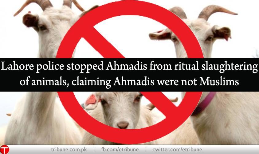 No Qurbani for Ahmadis