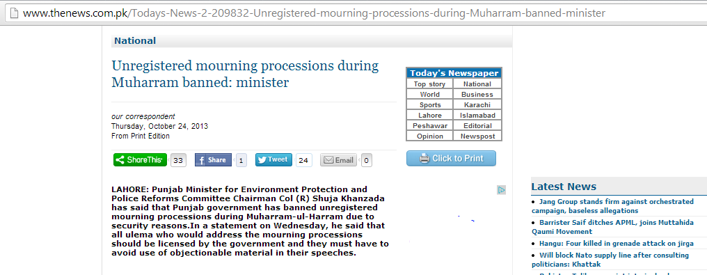 http://www.thenews.com.pk/Todays-News-2-209832-Unregistered-mourning-processions-during-Muharram-banned-minister