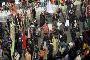 بوپال میں عاشورہ کے جلوس کا ایک منظر