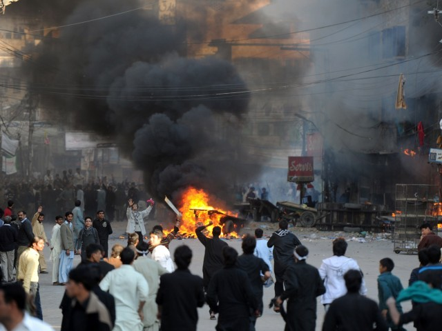 Rawalpindi burning