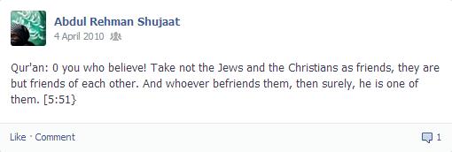 Typical hate speech against Muslims - the Takfiri discourse