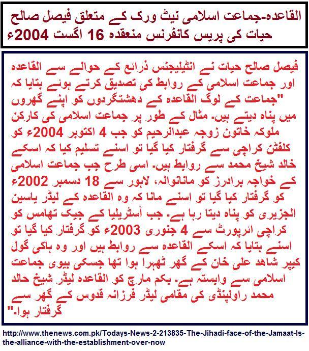 Jamaat-e-Islami and AlQaeda - Terrorism 3