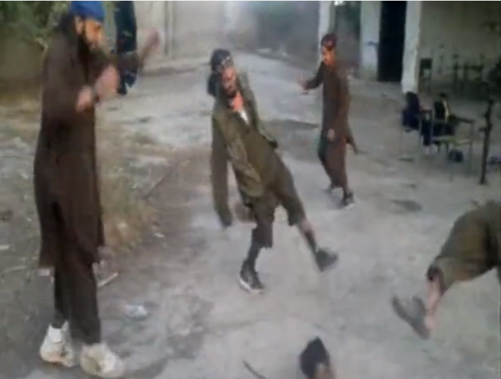 Taliban play football with the heads of their victims