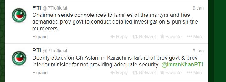 PTI on Ch Aslam