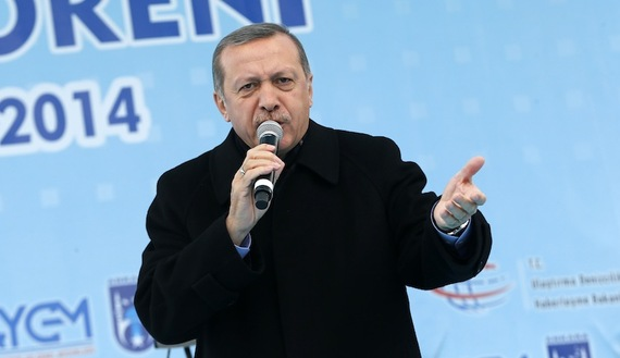 Turkey's PM Erdogan addresses crowd during opening ceremony of new metro line in Ankara