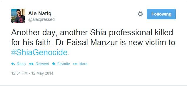Ale on Shia Dr. killed