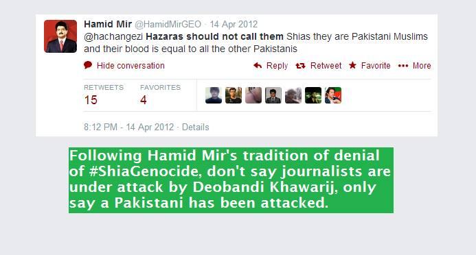 Hmid Mir on Shia Genocide