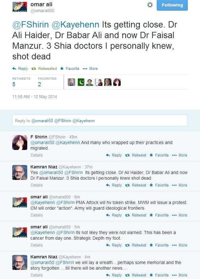 Omara Ali on Shia Dr. killed