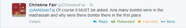 christin fair madrassa bombs