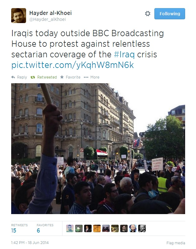 Sectarian Coverage BBC Protest