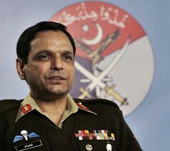 Major-General Athar Abbas, a military spokesman, speaks to Reuters in Rawalpindi