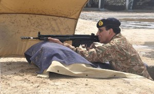 Gen. Kayani was aiming at people of Pakistan and not the militants in this picture