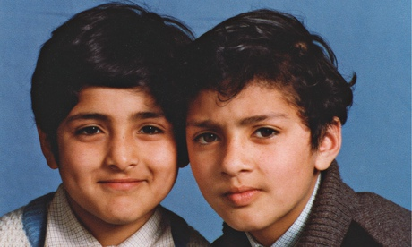 bdul Waheed Majeed (left) with his brother Hafeez as boys