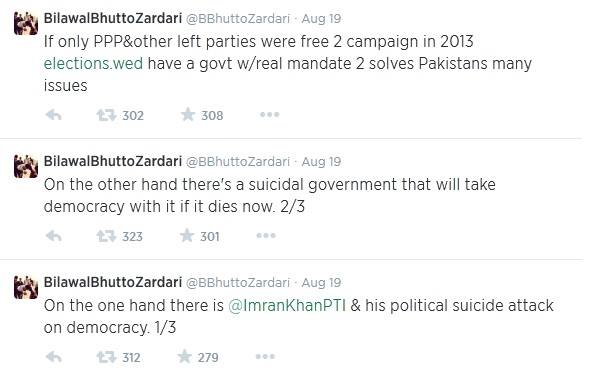 Bilawal tweets