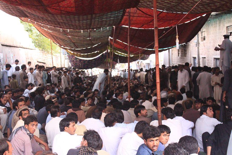 Protest  against the settlement of Haqqani Taliban in Kurram