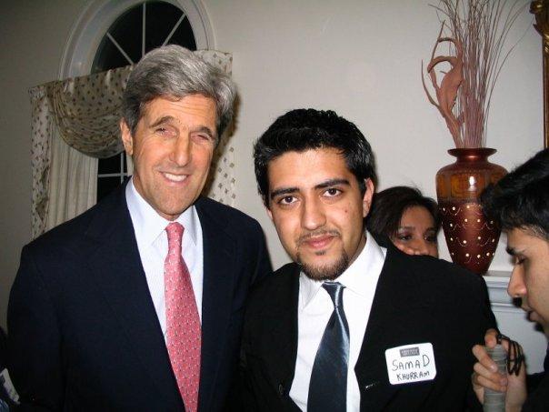 Samad Khurram with John Kerry
