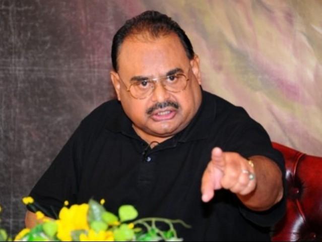 Muttahida Qaumi Movement ex-chief Altaf Hussain. PHOTO: MQM