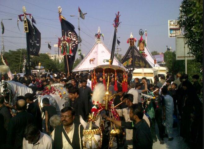 Image result for muharram jaloos karachi
