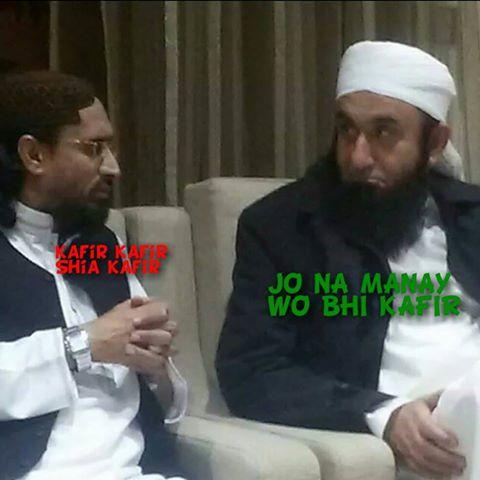 The meeting between Tariq Jameel, leader of the Deobandi Tableeghi Jamaat and Aurangzeb Farooqi- leader of the banned Deobandi terrorist organisation ASWJ-LeJ