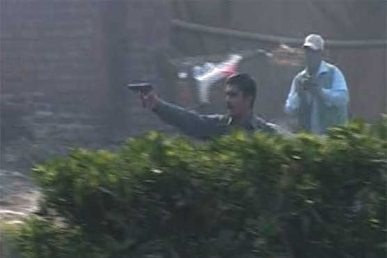 PML N thug and body guard of Rana Sanaullah's relative shooting at PTI