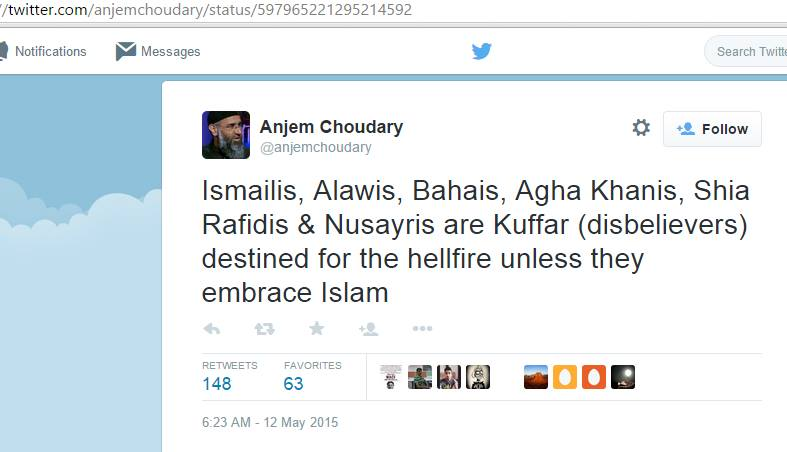 The World can no longer ignore the hate mongering of Deobandi-Salafi terrorist thug Anjem Choudary