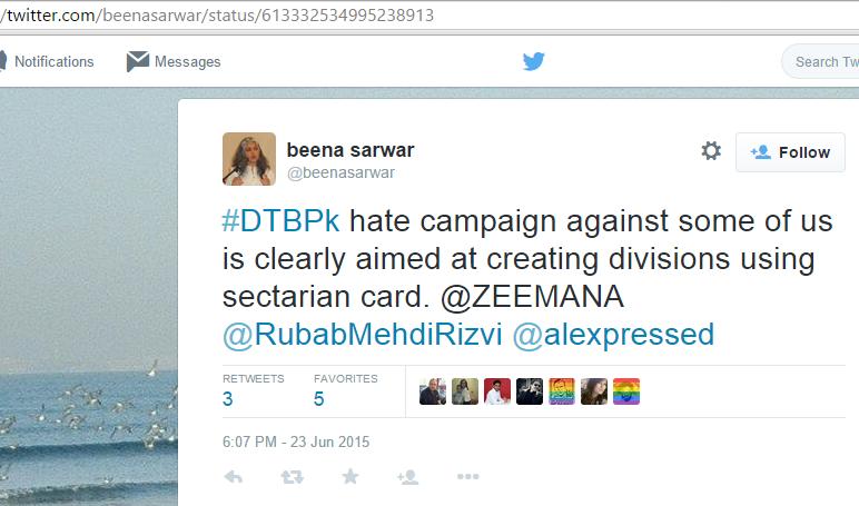 Birds of a feather Ilmana Fasih is @Zeemana, Ale Natiq and Rubab Mehdi are Ashrafi style Shia Activists.