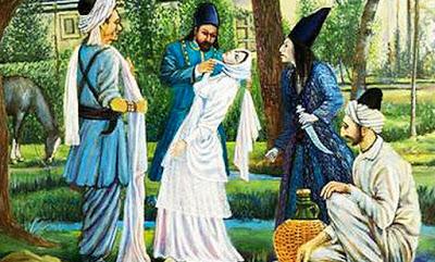 secene of hanged Tahrihih