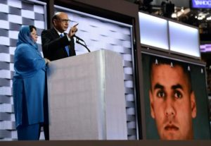 Khizr Khan, whose son Humayun S. M. Khan was one of 14 US Muslims who died serving the United States in the ten years after 9/11 speaks during the final day of the 2016 Democratic National Convention on July 28, 2016, at the Wells Fargo Center in Philadelphia, Pennsylvania. / AFP / Robyn BECK (Photo credit should read ROBYN BECK/AFP/Getty Images)