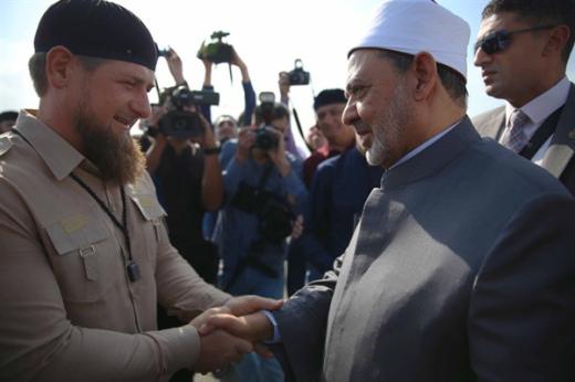 ramzan-akhmadovich-with-prof-ahmad-el-tayeb